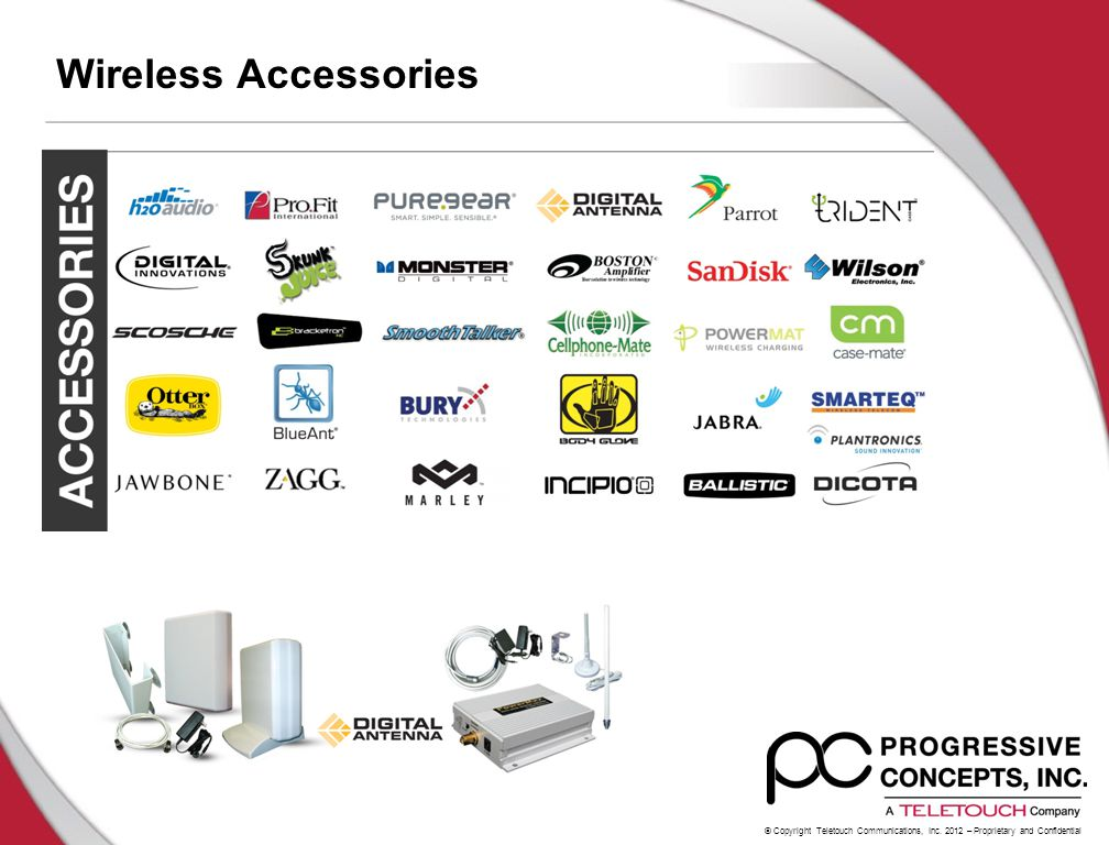 © Copyright Teletouch Communications, Inc. 2012 – Proprietary and Confidential Wireless Accessories
