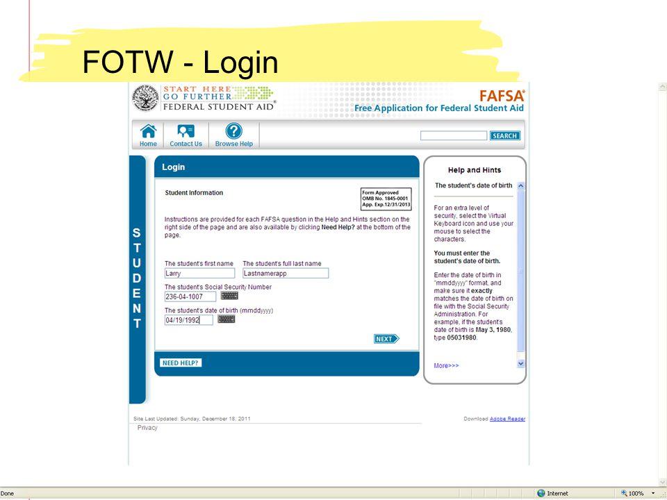 FOTW - Login