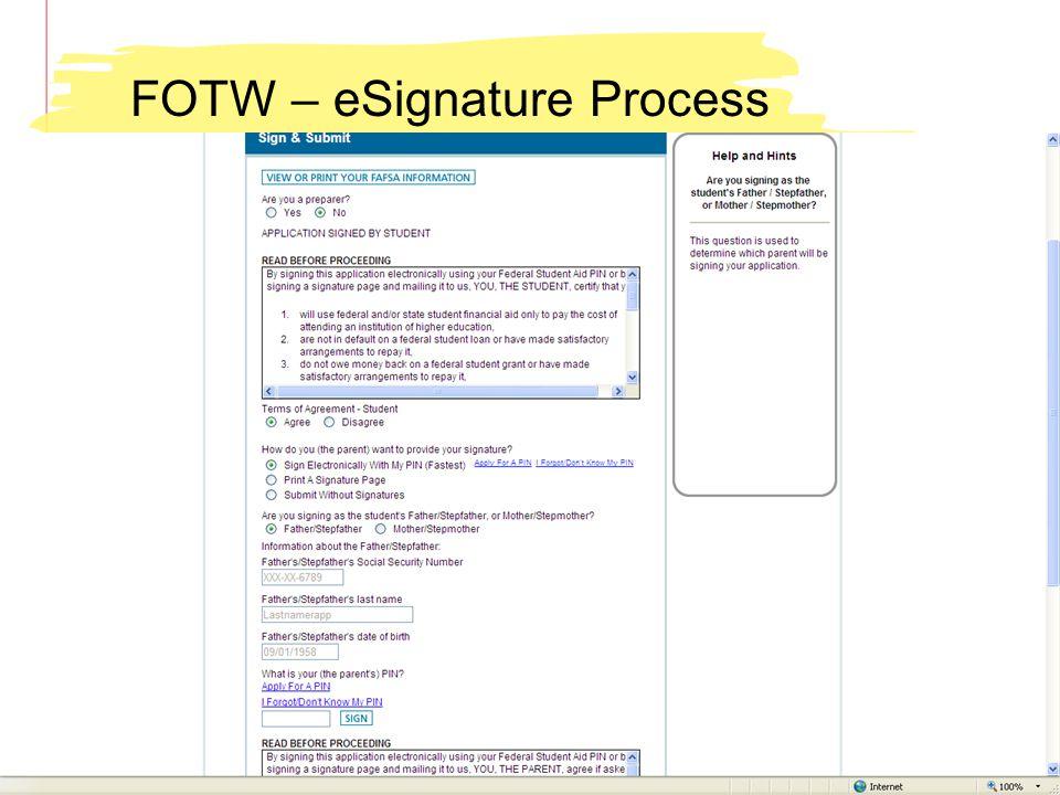 FOTW – eSignature Process