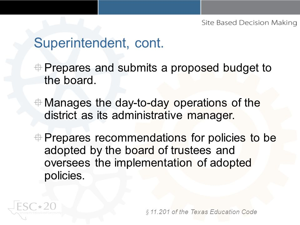 Prepares and submits a proposed budget to the board.