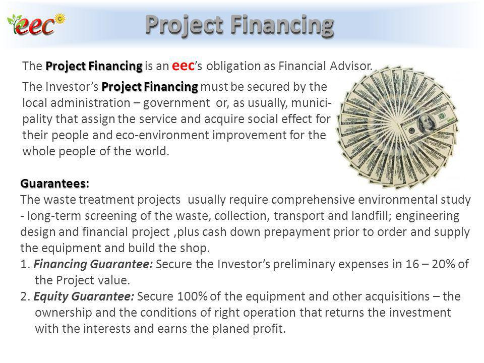 Project Financing Project Financing The Project Financing is an eec s obligation as Financial Advisor. Project Financing The Investors Project Financi