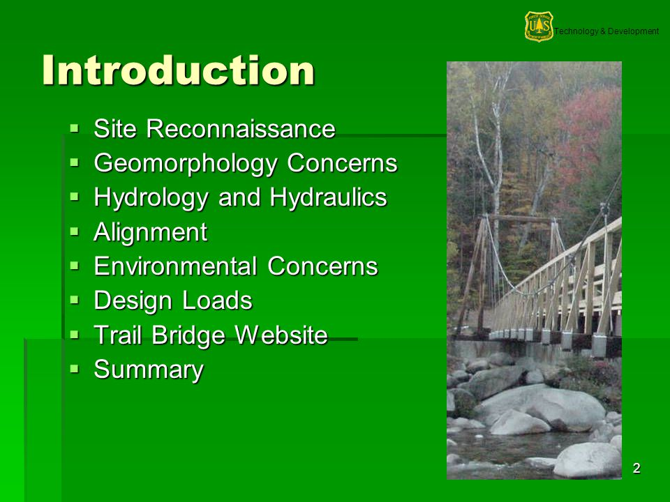 Technology & Development 13 Hydrology and Hydraulics Scour Scour