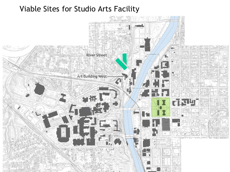 Viable Sites for Studio Arts Facility River Street Art Building West