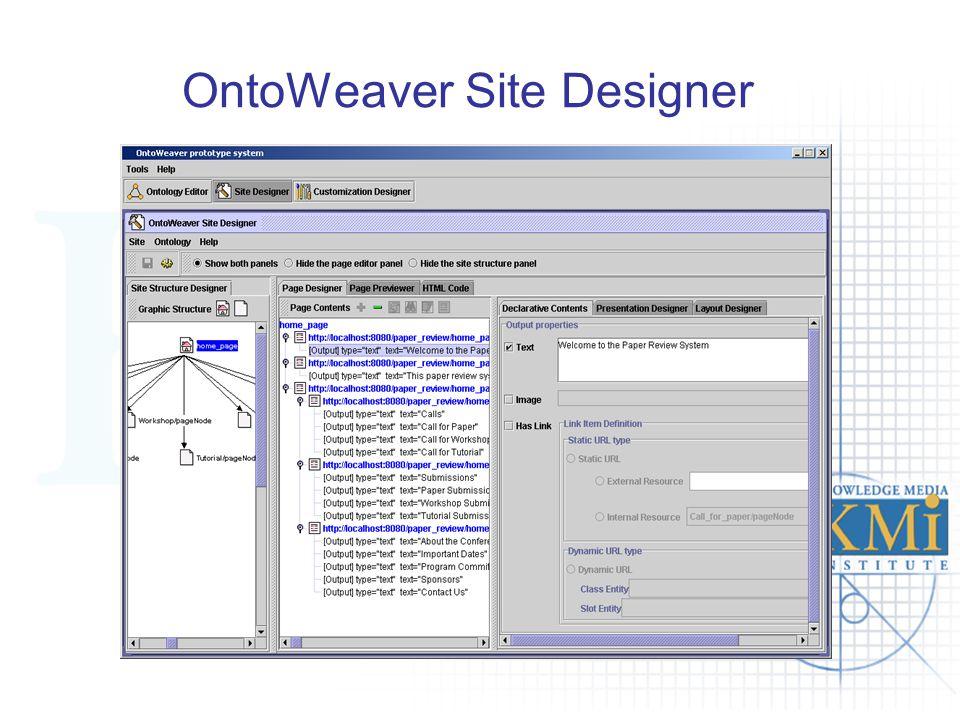 OntoWeaver Site Designer