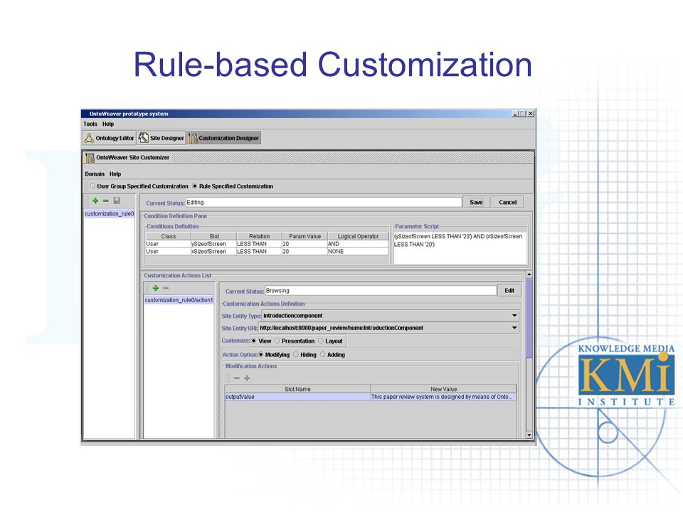 Rule-based Customization