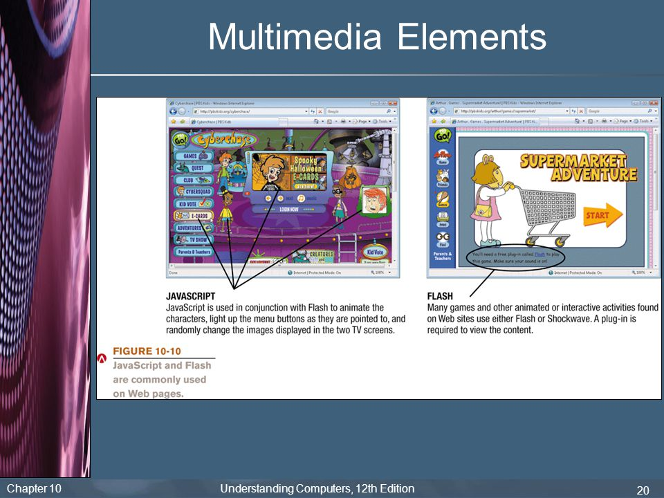 Chapter 10 Understanding Computers, 12th Edition 20 Multimedia Elements