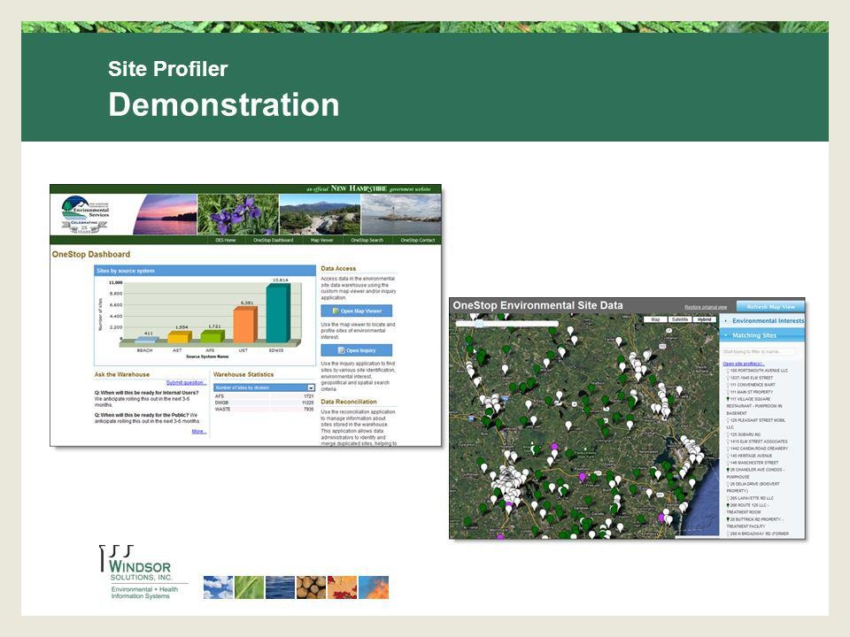 Site Profiler Demonstration