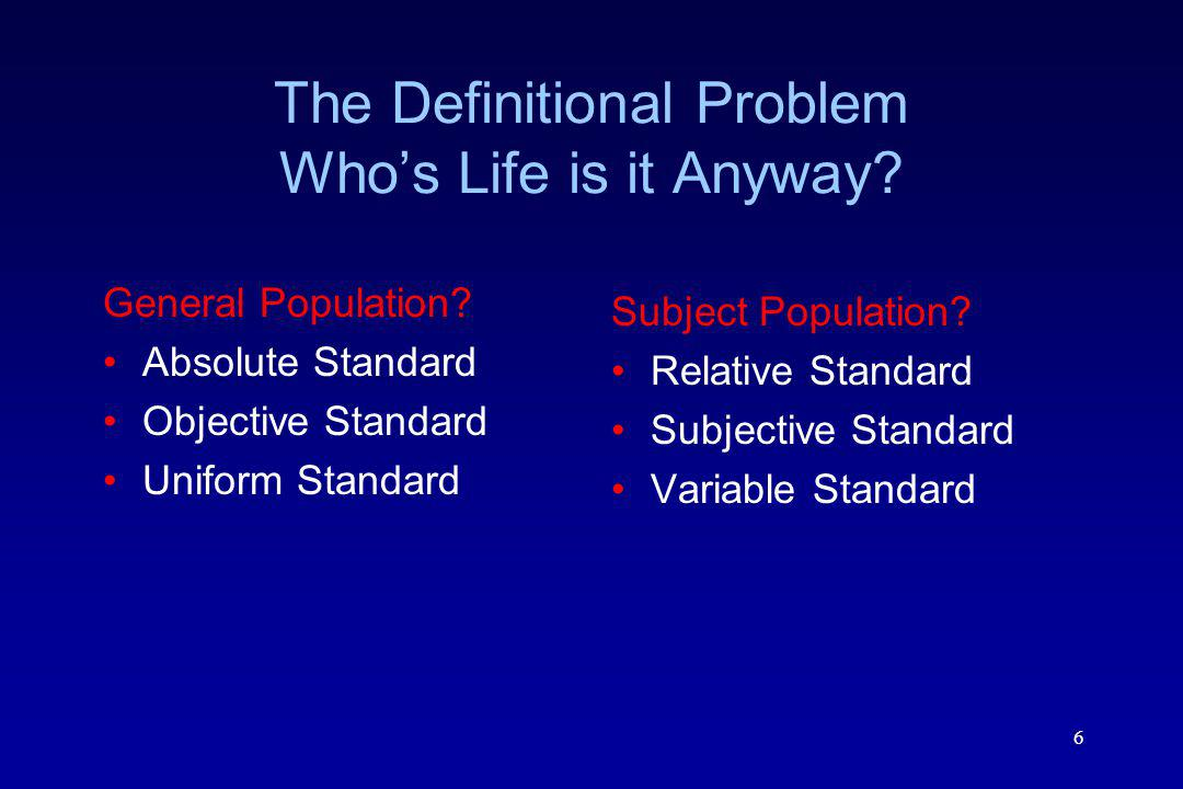 6 The Definitional Problem Whos Life is it Anyway.