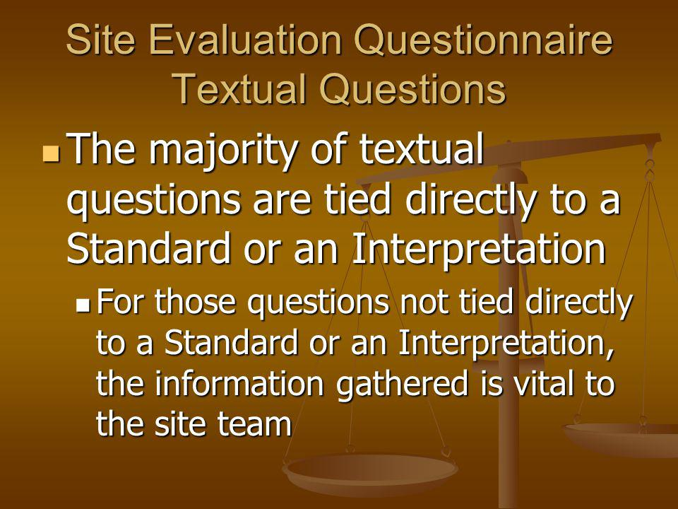 Attachments are related to the textual questions found in the Site Evaluation Questionnaire Attachments are related to the textual questions found in the Site Evaluation Questionnaire There are 3 types of attachments: There are 3 types of attachments: General – sent to all site visit members and the ABA General – sent to all site visit members and the ABA Supplementary – sent to site visit chair, specific member(s) of the team, and the ABA Supplementary – sent to site visit chair, specific member(s) of the team, and the ABA On-site – made available for team members during the visit.