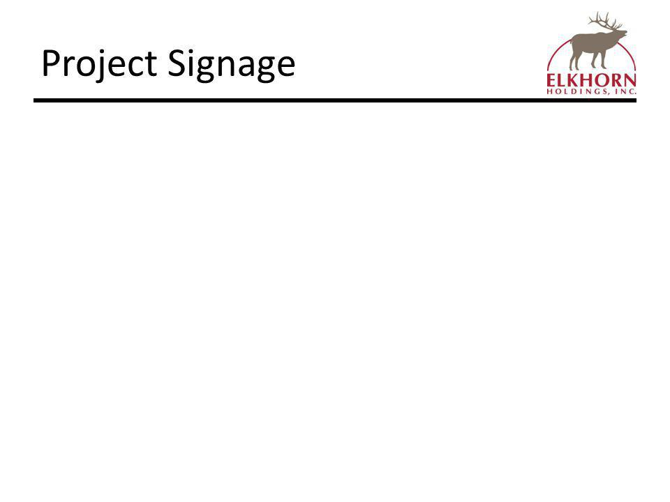 Project Signage