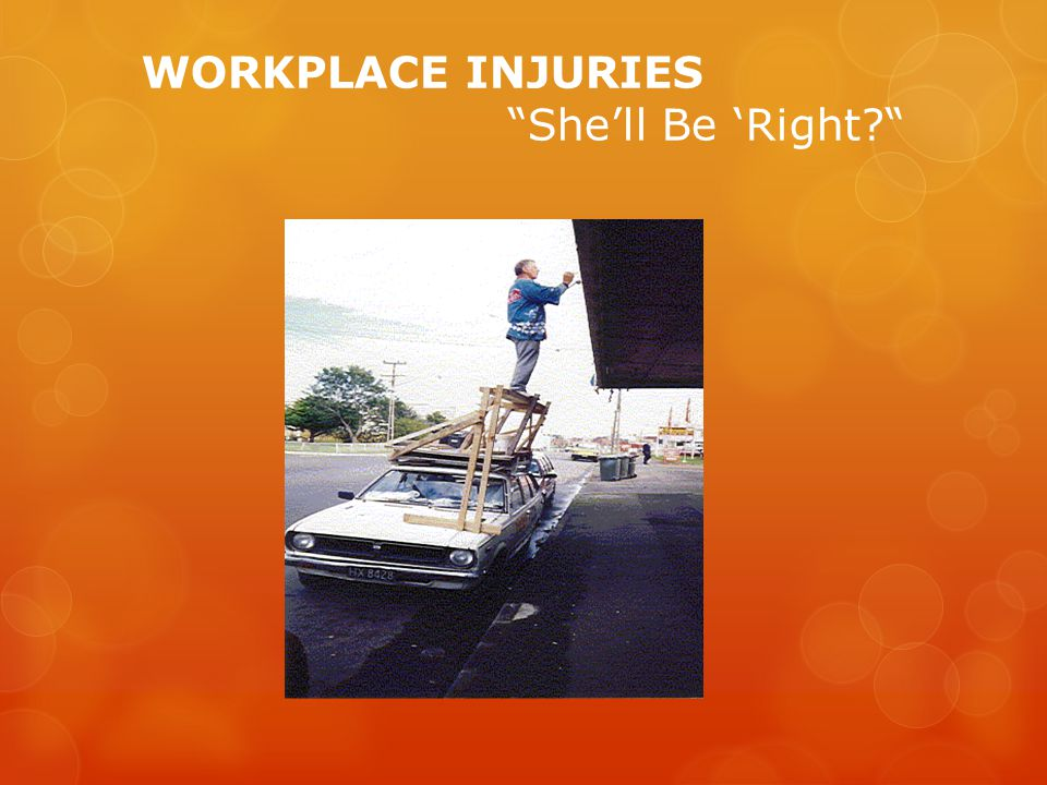WORKPLACE INJURIES Shell Be Right?