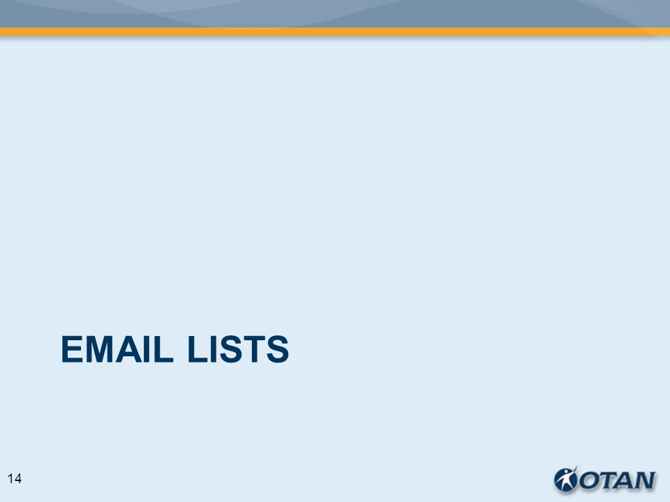 EMAIL LISTS 14