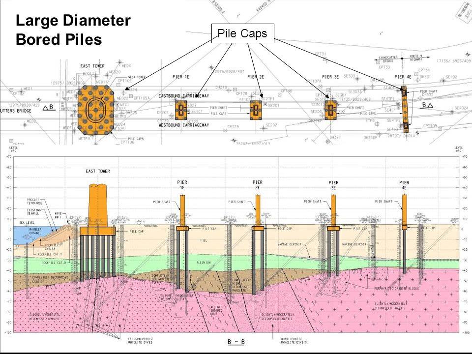 Large Diameter Bored Piles Pile Caps