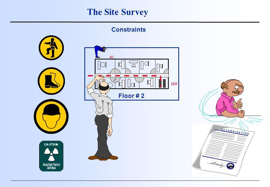 Floor # 2 DDF AC A U T H O R I Z A T I O N The Site Survey Constraints
