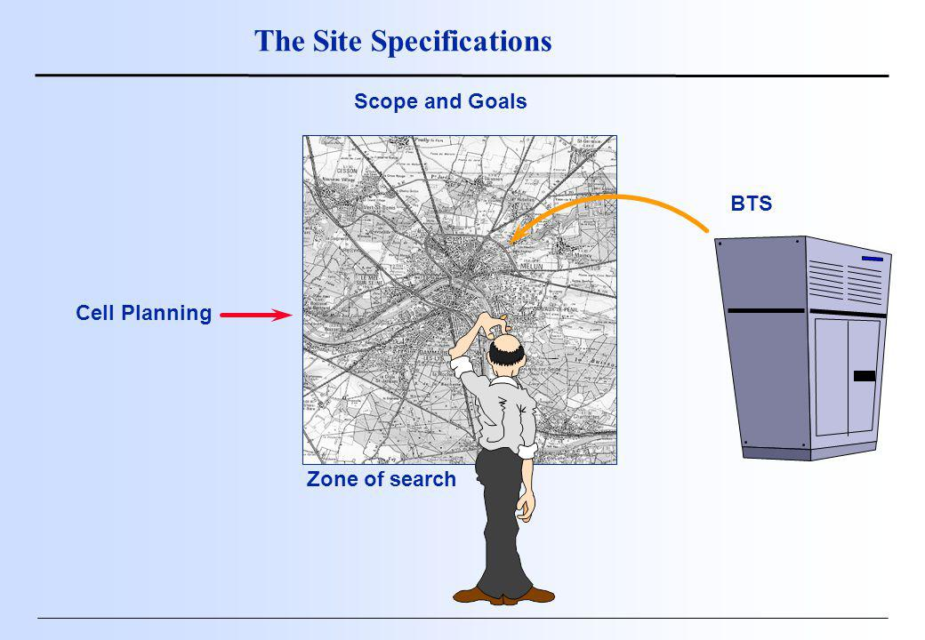 Cell Planning BTS Zone of search The Site Specifications Scope and Goals