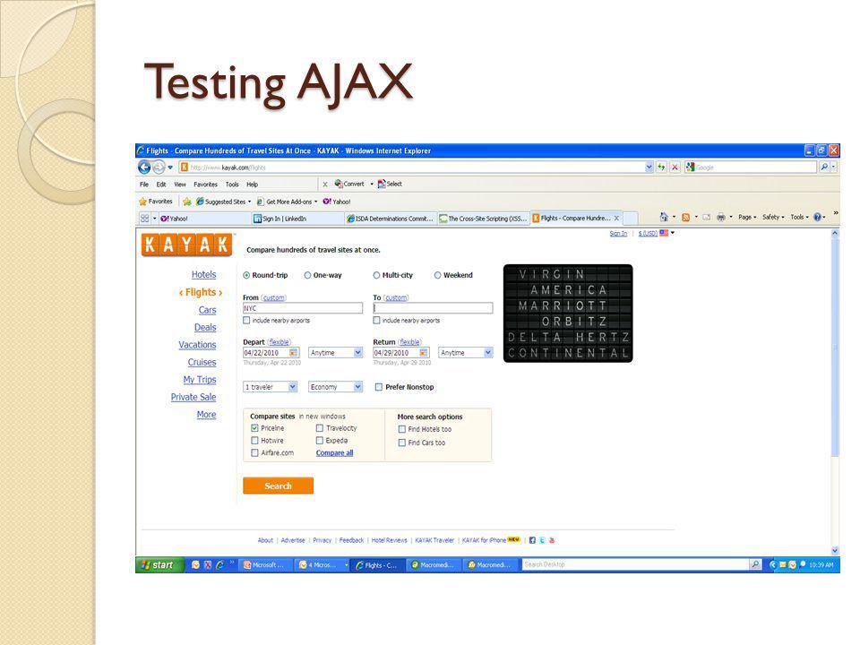 Testing AJAX