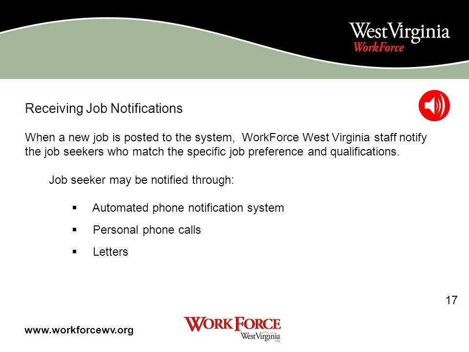 After registering on line, you should contact a WorkForce office to make sure that you are fully registered.