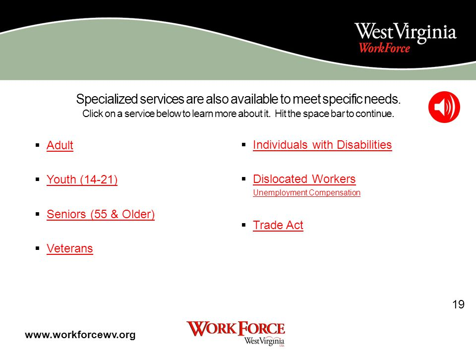 What You Can Do To Help Yourself Find A Job You can help yourself in the job search process by: Logging on daily to the WorkForce West Virginia websiteWorkForce West Virginia website Looking through the Job Postings in our lobby Looking through other job posting websites on the internet (website list available by request) Attending local career fairs and workshops.