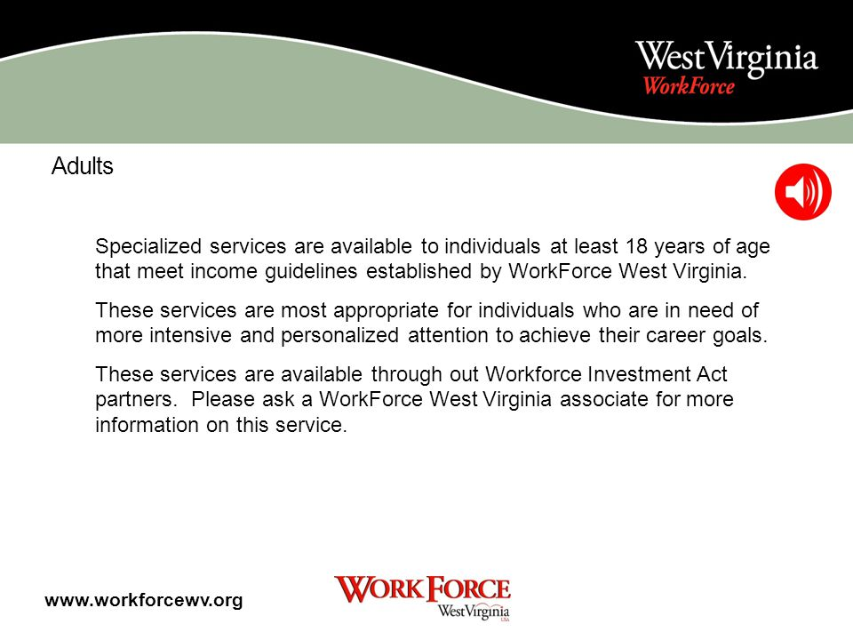 Region 7 Martinsburg WorkForce WV Career Center 891 Auto Parts Place Suite 1314 Martinsburg, WV 25403 Job Service: 304-267-0065 Unemployment: 304-267-0065 Moorefield WorkForce WV Career Center 1929 State Road 55 Moorefield, WV 26836 Job Service: 304-538-7741 Unemployment: 304-538-3176 Region 7 Workforce Investment Board 1929 State Road 55 Moorefield, WV 26836 Phone: 304-530-3917 Region 7 WIB Website www.workforcewv.org Click the arrow to return to the map.