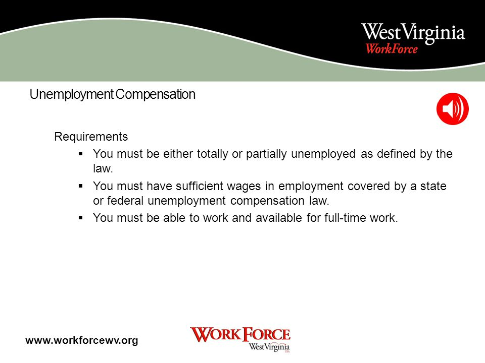 Unemployment Compensation Unemployment Compensation (UC) is designed to provide benefits to eligible persons who are temporarily unemployed through no fault of their own, and who would be employed full-time if suitable jobs were available.