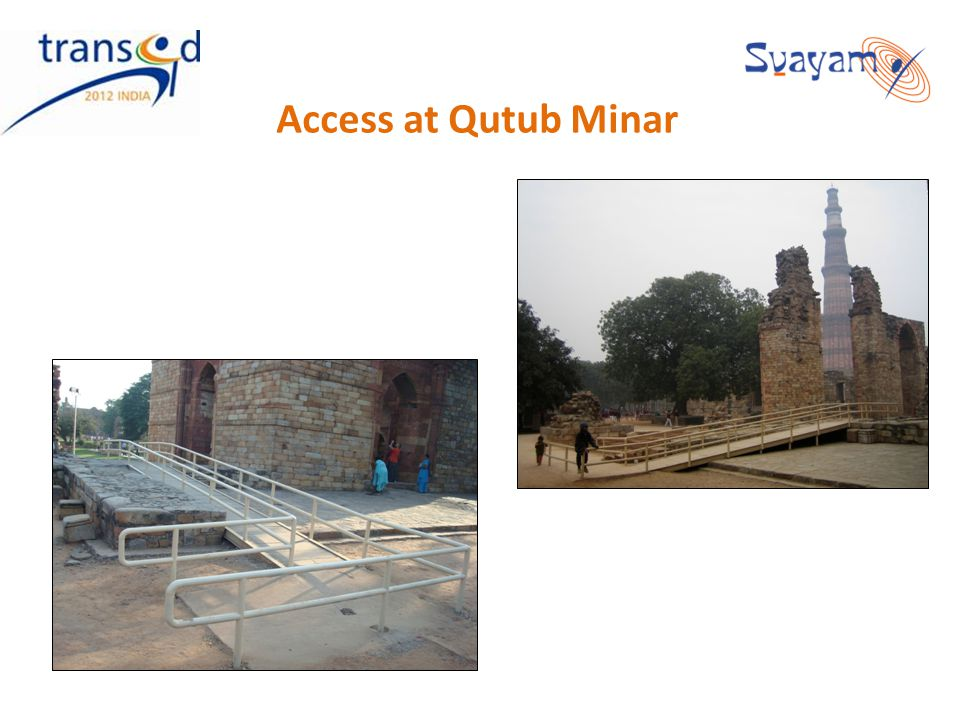 Access at Qutub Minar