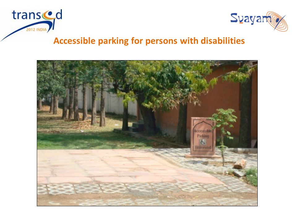 Accessible parking for persons with disabilities