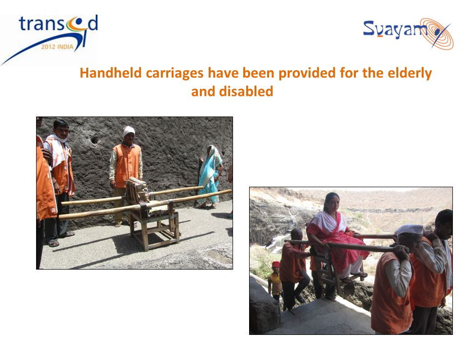 Handheld carriages have been provided for the elderly and disabled