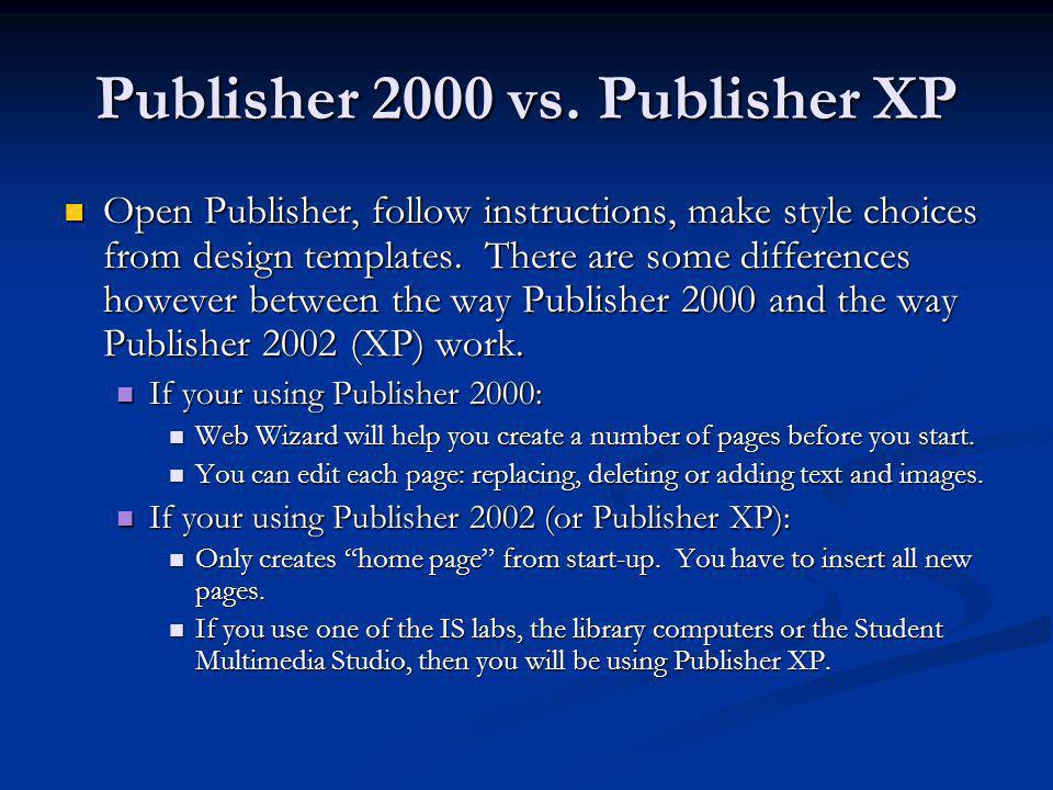 Publisher 2000 vs.