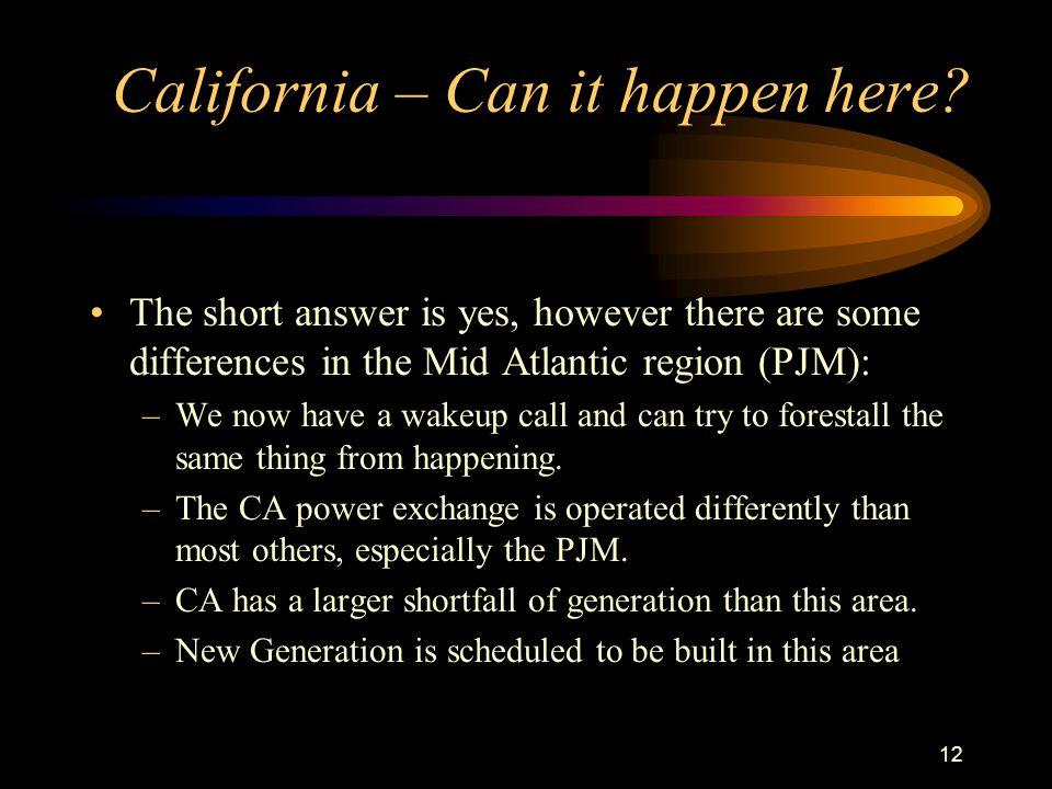 12 California – Can it happen here.