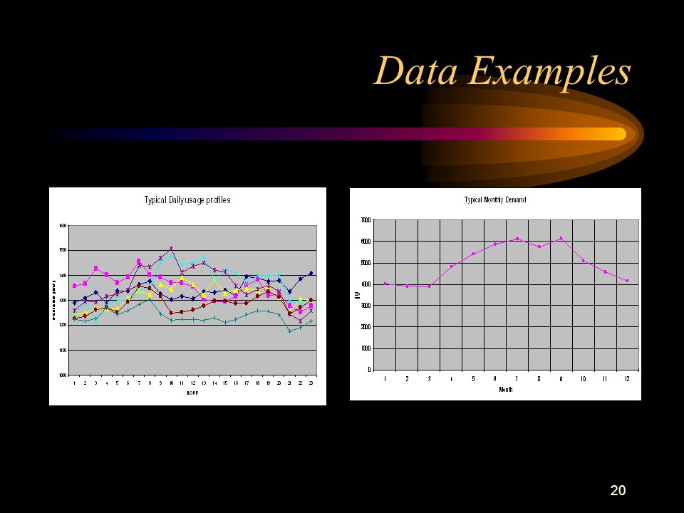20 Data Examples