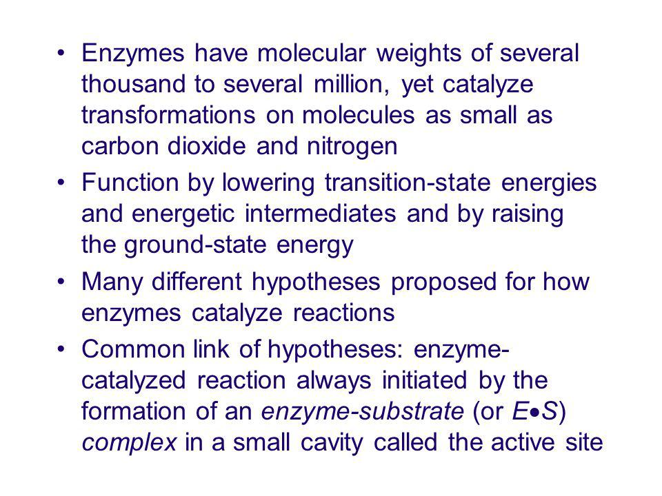 Binding energy for ES complex formation with one enantiomer may be much higher than that with the other enantiomer Both ES complexes may form, but only one ES complex may lead to product formation Enantiomer that does not turn over is said to undergo nonproductive binding