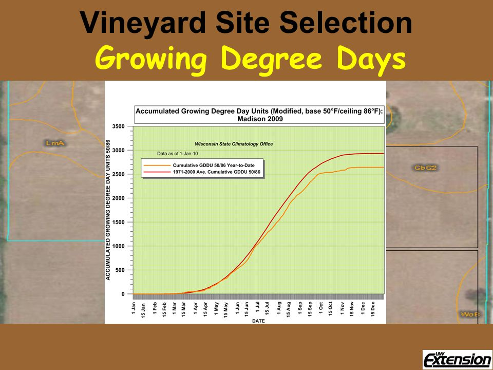 Vineyard Site Selection Growing Degree Days