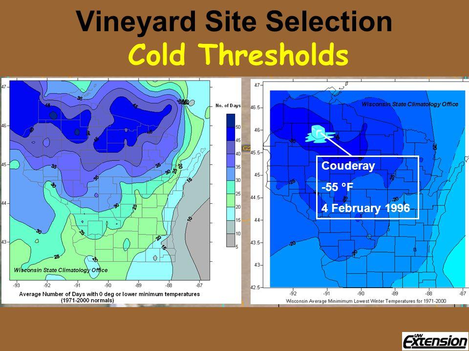 Couderay -55 °F 4 February 1996