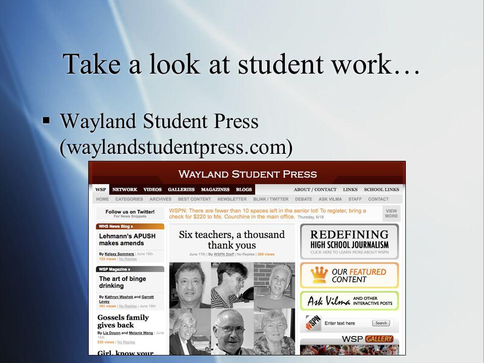 Take a look at student work… Wayland Student Press (waylandstudentpress.com)