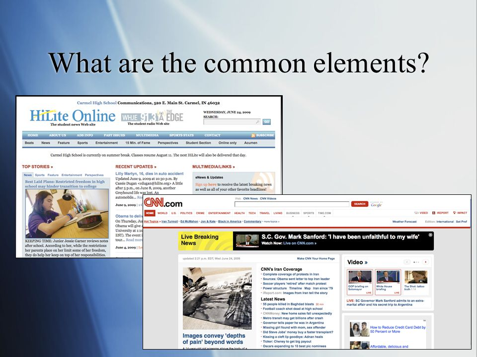What are the common elements?
