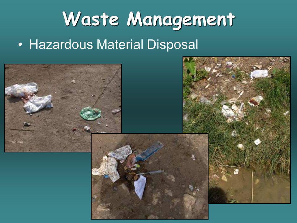 Hazardous Material Disposal