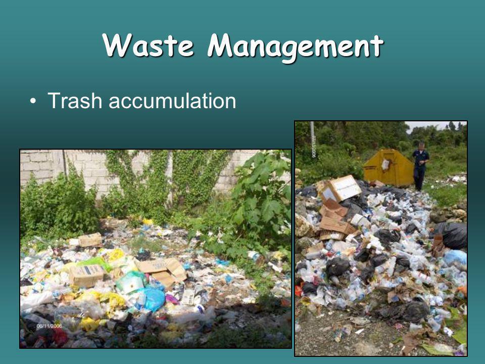 Trash accumulation Waste Management