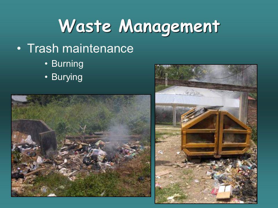 Trash maintenance Burning Burying Waste Management