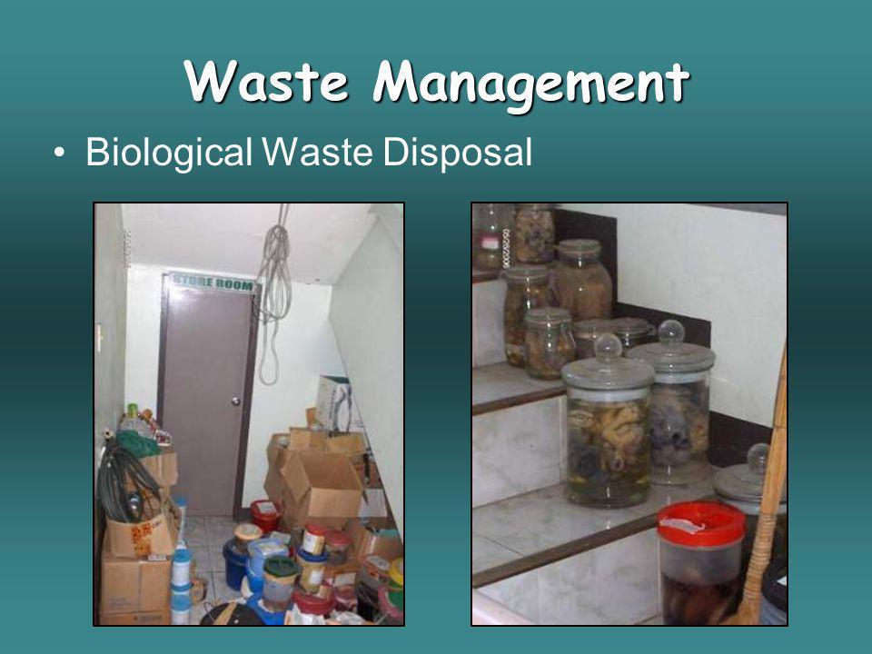 Biological Waste Disposal Waste Management