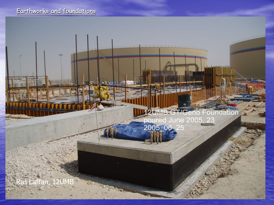 Earthworks and foundations Ras Laffan, 12UMB