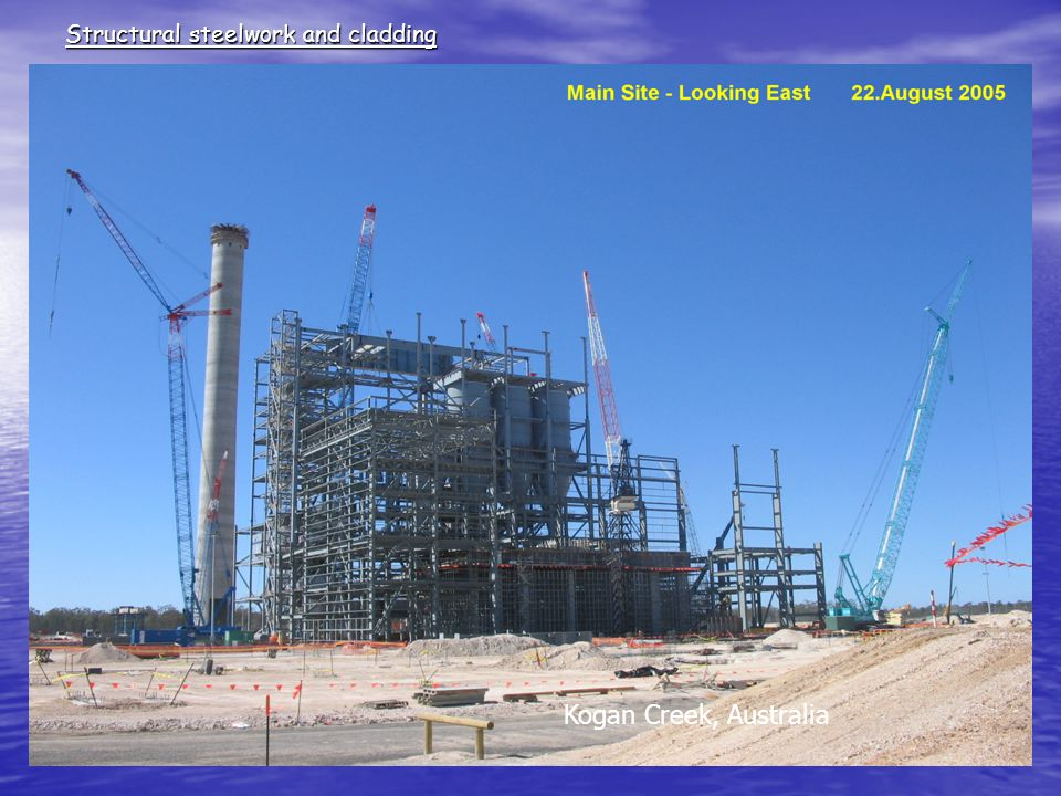 Structural steelwork and cladding Kogan Creek, Australia