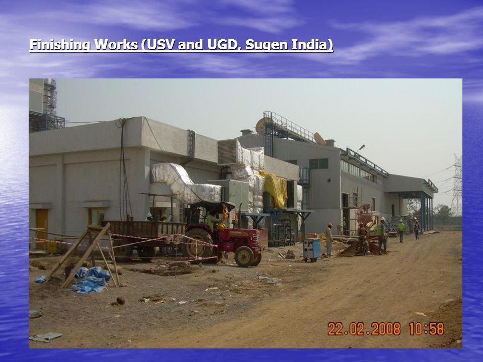 Finishing Works (USV and UGD, Sugen India)