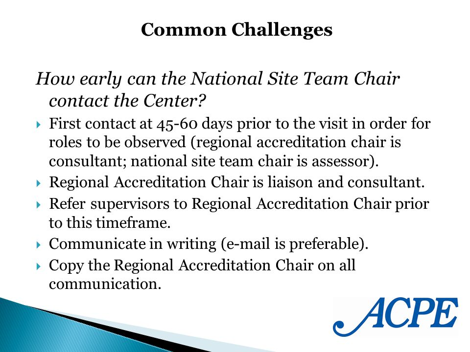 How early can the National Site Team Chair contact the Center.