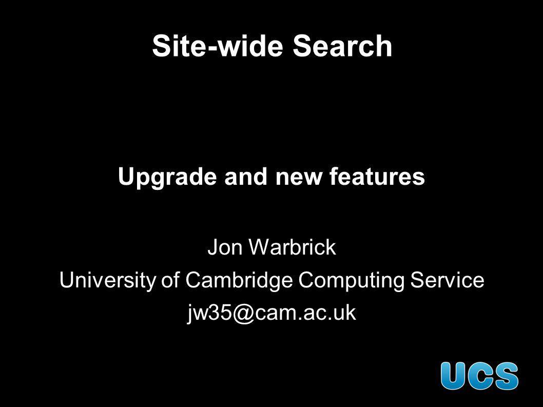 Site-wide search web-search.cam.ac.uk