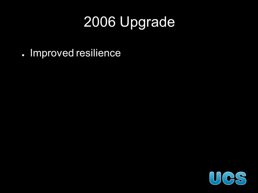 2006 Upgrade Improved resilience