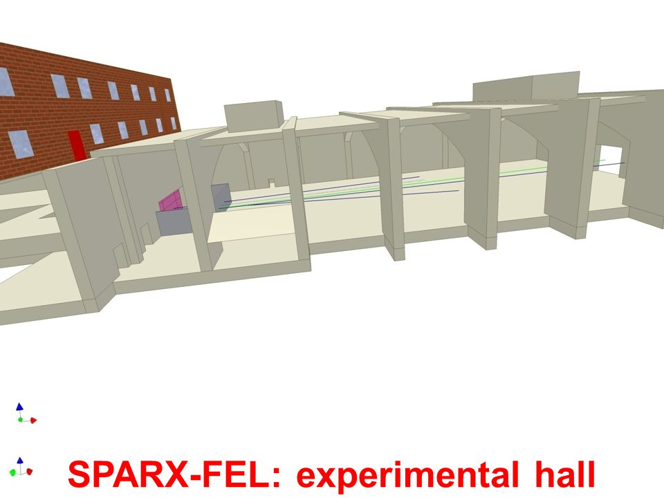 SPARX-FEL: experimental hall