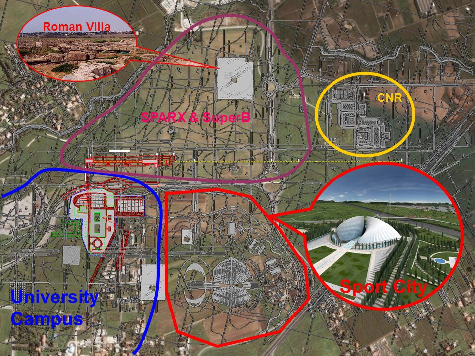 Roman Villa Sport City University Campus CNR SPARX & SuperB