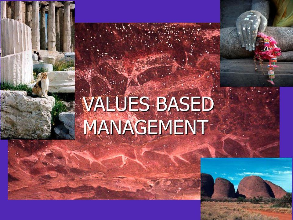 VALUES BASED MANAGEMENT