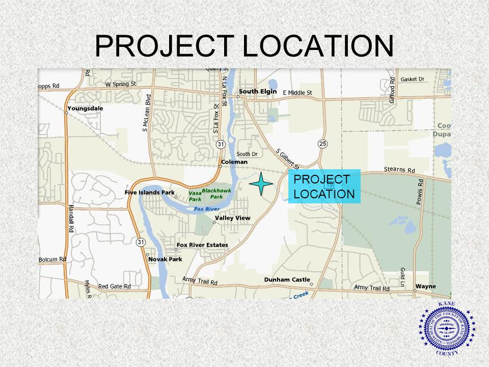 PROJECT DESCRIPTION 11.7 ACRES OF WETLAND MITIGATION 12.8 ACRES OF COMPENSATORY FLOODPLAIN STORAGE 1,500 FT OF STREAMBANK RESTORATION 3,417 FT (0.65 MI) OF NEW ALIGNMENT ROADWAY EMBANKMENT THE PROJECT INCLUDES SPECIAL WASTE REMOVAL