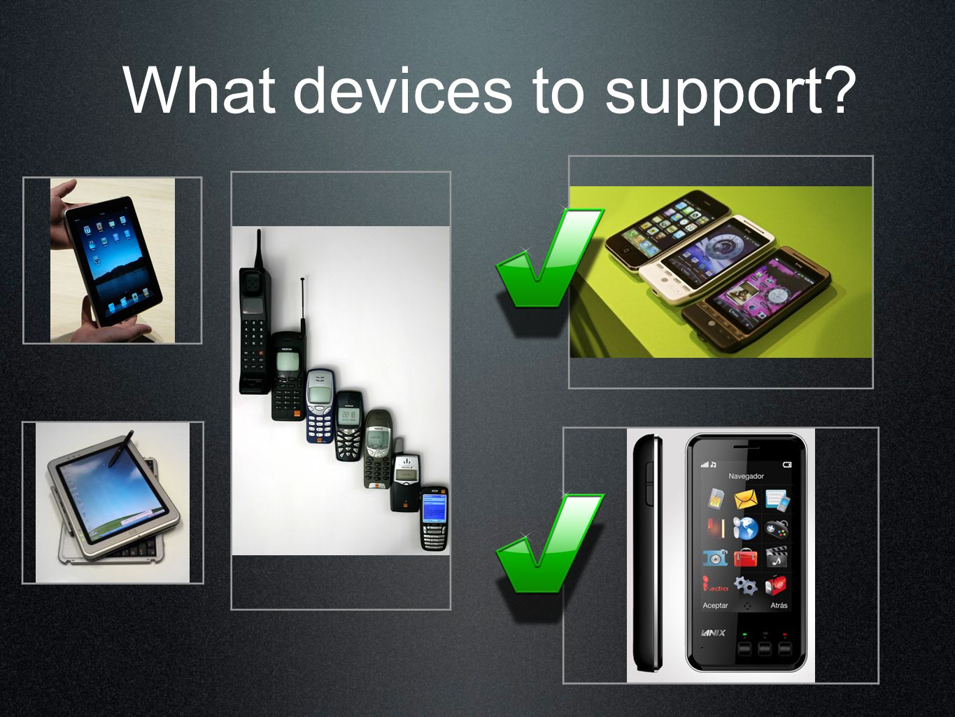 What devices to support